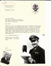 Daredevil Roscoe Turner Writes to Herb Fisher of Beechcraft, King Air