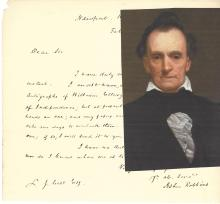 Prominent Rhode Island Attorney Asher Robbins: Declaration of Independence Autograph Request