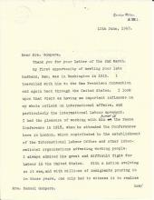 British Labor Leader Bevin Comments on Samuel Gompers