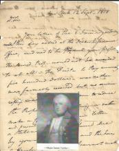 [Revolutionary War] Federalist Maj. Fairlie Writes NY Secretary of State -- Early Postal Markings