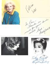 Dozens of Early to Current Hollywood Actors: Autographs, Photographs, Notes