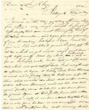 Wealthy Boston Tobacconist Peter Wainwright Used Indians to Locate Family Members -- Wonderful Sea Voyage Letter
