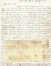 Superb Civil War Battle Letter: Forts Spanish, Blakely, Mobile, Lee Surrender; Rebels Leave Dead and Wounded in Gun Pits
