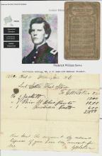 [Uncle Tom's Cabin] Abolitionist Harriet Beecher Stowe's Son, Injured at Gettysburg, Receives Bill for Civil War Uniform