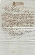 Wiscasset, Maine Garrison Orders Tools in 1815; Six New EnglandLetters, Documents