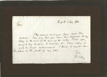 House Speaker, Slave Owner, Whig Presidential Candidate Henry Clay Apologies for not Sending Money -- 1812