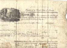 Final President-Founding Father James Monroe Signs Land Grant