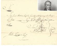 Revolutionary War-Date Pay Order Signed by Samuel Wyllys for James Hillhouse, Who Alongside Aaron Burr