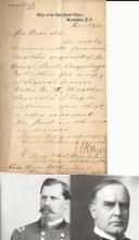 [Civil War Battle of Stones River] General, Chief Signal Officer Hazens Writes to William McKinley, Jr.