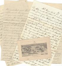 3 Civil War Letters: 151st NY Soldier Sees Hundreds Wounded at Battle of Antietam Brought to McKim's Hospital