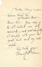 Important Civil War Surgeon, Brevetted, Boston Mayor Offers Autograph