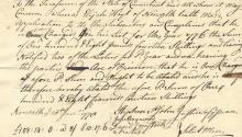 1776 -- Revolutionary War Document Signed by David Comstock