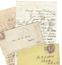 Two Civil War Letters:  MA, MI Regiments; Opposing Soldiers Fraternize at Petersburg