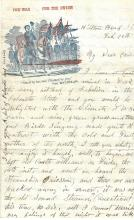 2 Civil War Letters: MA 28th Private Finds Horrors Aboard Steamship; Wounded at Bull Run