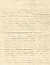 Civil War Birney Zouaves Letter: Rebels Killed Two; Dead Buried Side by Side