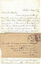 Civil War Letter: Cadet Witnesses Secessionist Cowering in Face of Revolvers