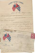 Spanish-American War Soldier Camp Cuba Libre; Florida Postmark