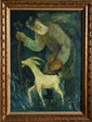 Chaim Goldberg, Wanderer, Oil Painting, Chaim (1917) Goldberg, Click for value