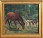 Ludwig Wilhelm Plock, Horses in Pasture, Oil Painting, Ludwig Wilhelm Plock, Click for value