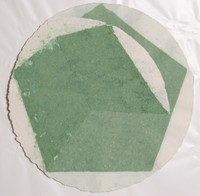 William Fares, Untitled (Circle and Pentagon), Hand-Colored Paper