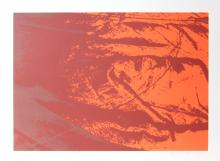Marie Lunden, Untitled - Red Orange Abstract, Serigraph