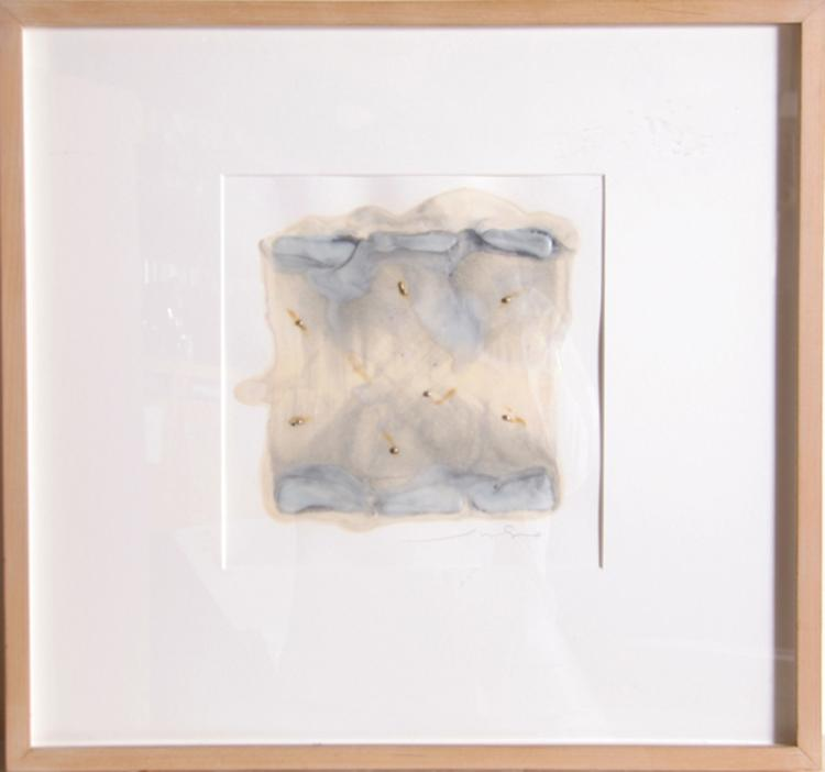 Juhachiro Takada, Untitled II, Encaustic, Sand on Canvas