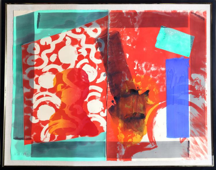Howard Hodgkin, Moonlight Diptych Lithograph with Hand-Coloring