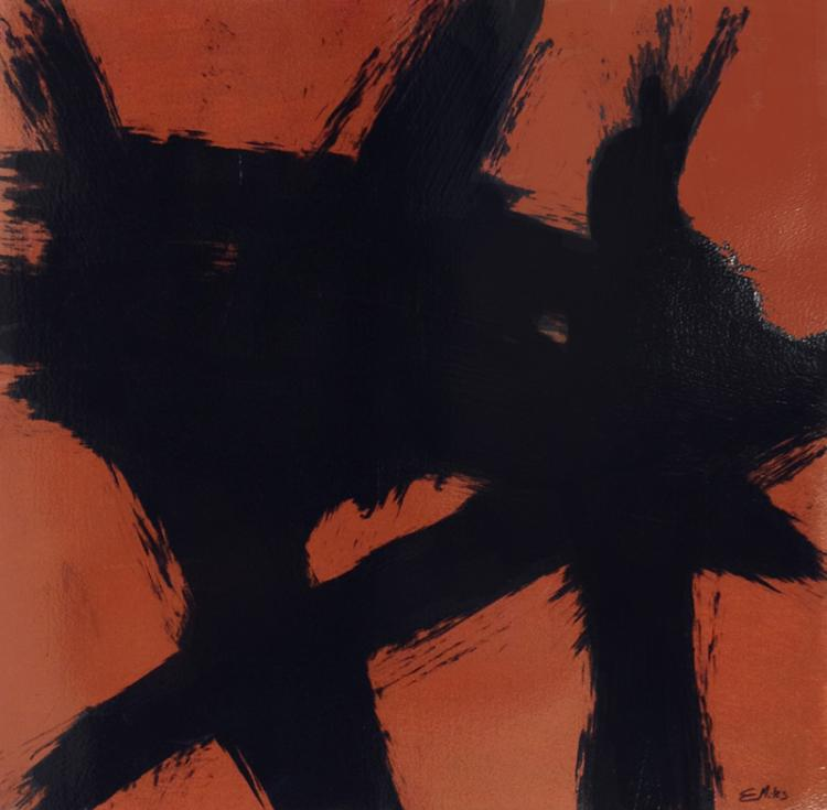 Eno Miles, Trademarks (Orange), Acrylic Painting