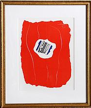 Robert Motherwell, Tricolor 137, Offset Lithograph