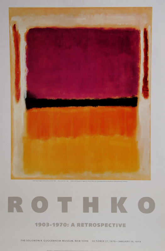 Mark Rothko, A Retrospective - Red, Orange, Tan, and Purple, Poster