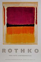 Mark Rothko, A Retrospective - Red, Orange, Tan, and Purple, Poster