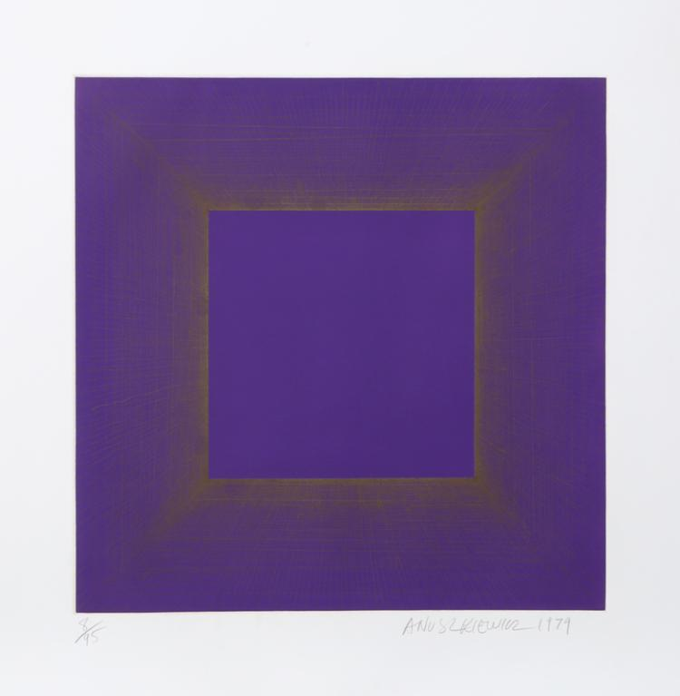 Richard Anuszkiewicz, Midnight Suite (Purple with Silver), Intaglio Aquatint Etching