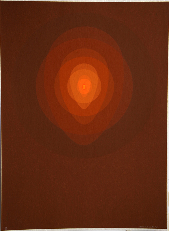 Clarence Holbrook Carter, Untitled - Red Mandala, Silkscreen