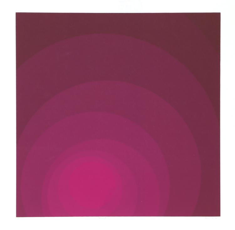 Neil Korpi, untitled (purple), Silkscreen
