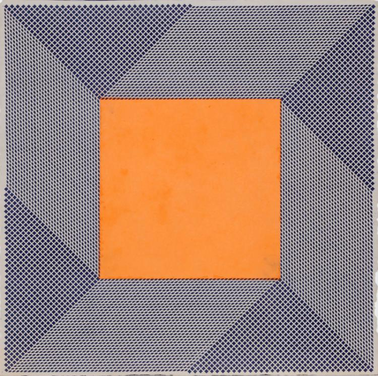 Orange Square, Intaglio Aquatint Etching