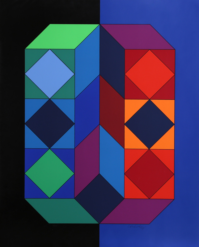 Victor Vasarely, VY-29-G from Album Xico, Serigraph