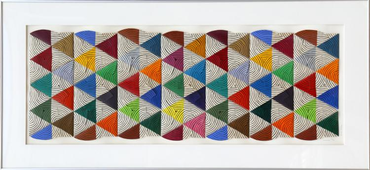Anne Youkeles, Sequence, 3-D Folded Silkscreen Collage
