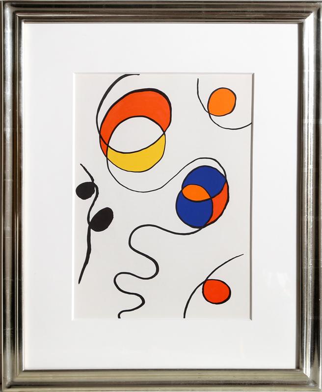 Alexander Calder, Balloons from Derriere Le Miroir, Lithograph
