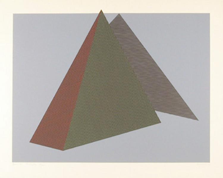 Jean-Marie Haessle, Bermuda Triangle, Serigraph