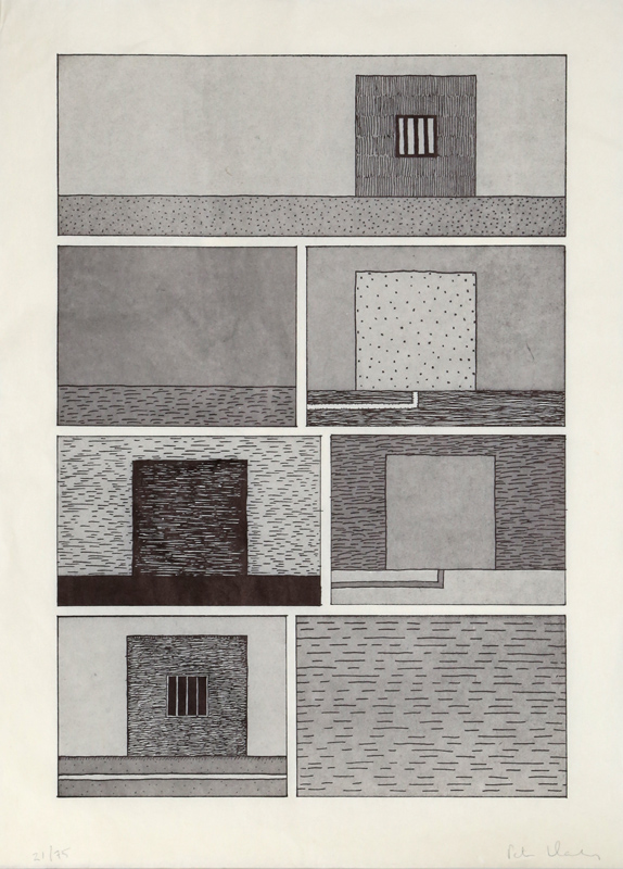 Peter Halley, Untitled for BAM, Lithograph