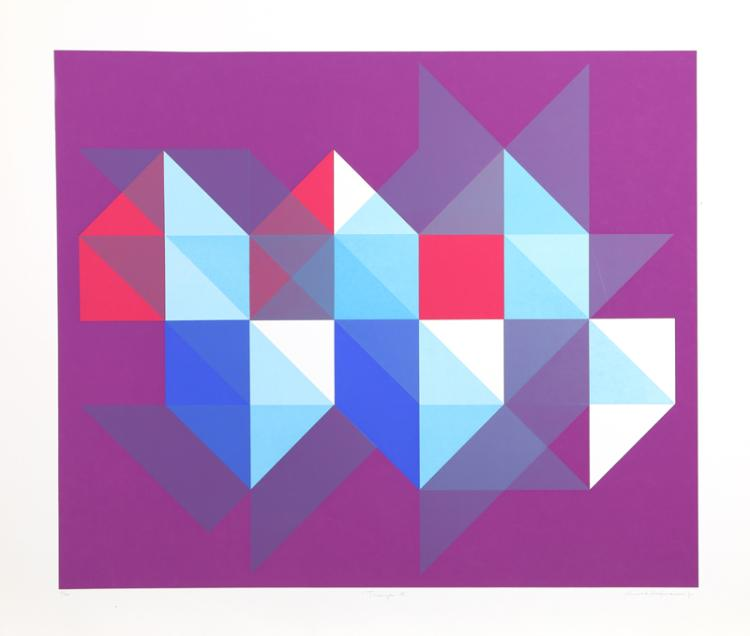 Arnold Hoffman, Jr., Triangle M, Silkscreen