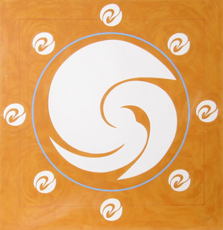 Jack Youngerman, Orbit (Orange), Silkscreen, Pochoir and Intaglio
