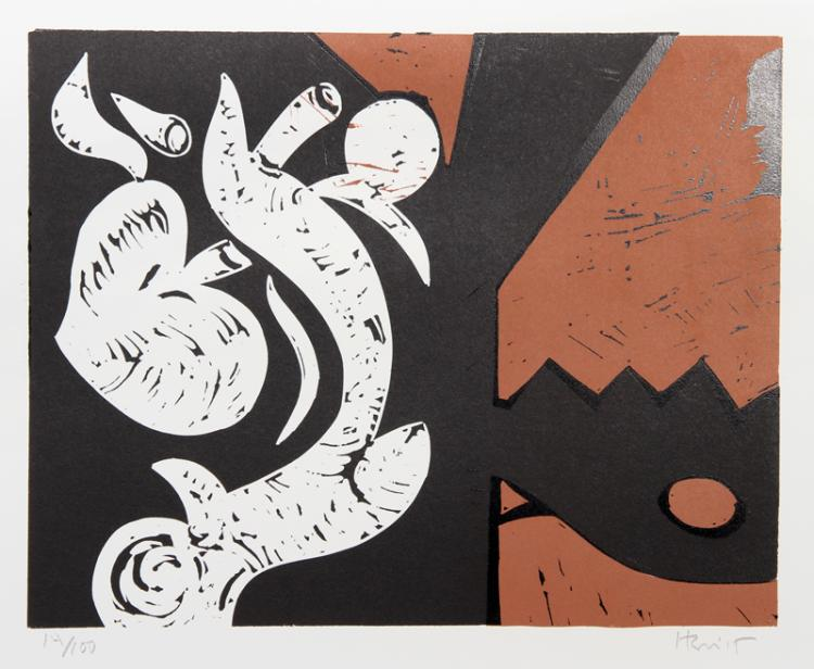 Charlie Hewitt, Untitled - G, Woodblock