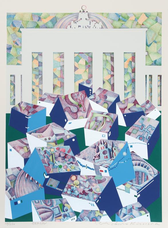 Risaburo Kimura, Berlin, Silkscreen on BFK Rives