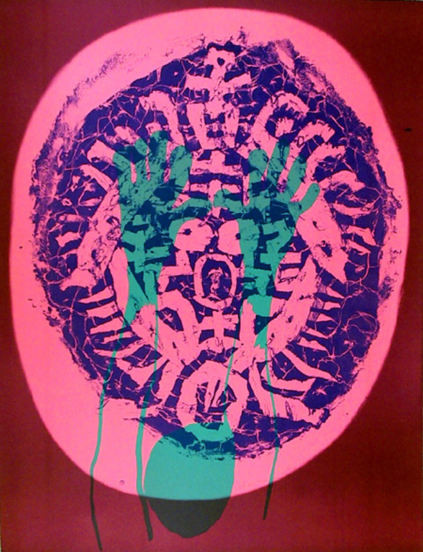 Nam Kwan, Illusion of Human Mask, Silkscreen