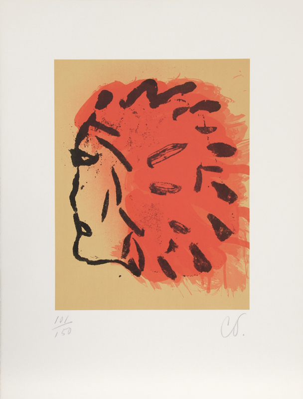 Claes Oldenburg, Indian Head from Peace Portfolio, Silkscreen