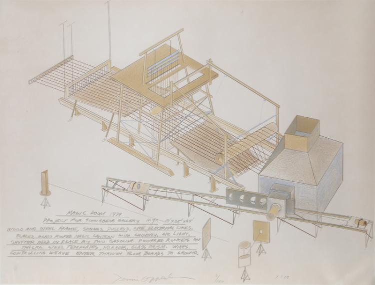 Dennis Oppenheim, Magic Loom, Lithograph
