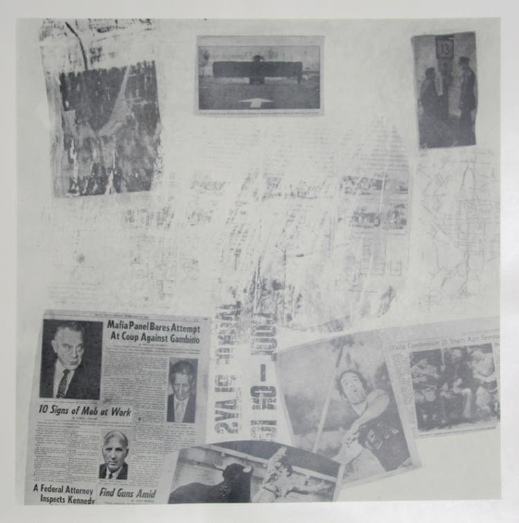 Robert Rauschenberg, Features from Currents, #72, Hand-Printed Silkscreen