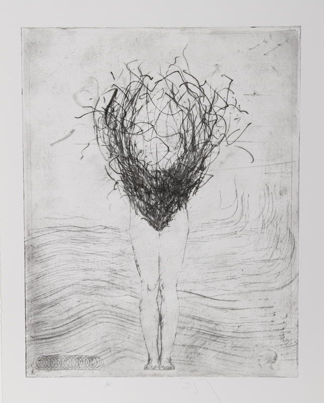 Donald Saff, Swimmer, Etching