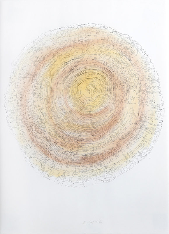 Alan Sonfist, Tree Trunk Series - Yellow, Lithograph